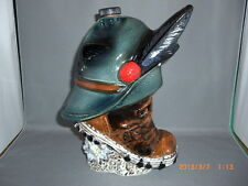 Vintage Ceramic Collectible Figural Hat & Boot Whisky Scotch Bar Bottle