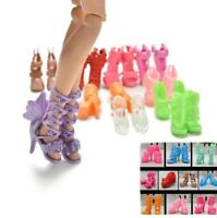 m BARBIE LOTTO 10 PAIA DI SCARPE - 10 PAIR OF SHOES FOR BARBIE DOLL