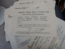 HOARD OF 45 AUTOGRAPHS  RUGGER PLAYERS many serving with distinction in WW2  lot
