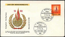 West Germany 1968 Human Rights Year FDC First Day Cover #C29202