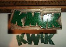 Antique Kwik Lead Cut Printing Block Printing Letterpress Foundry Type Vintage