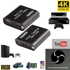 HDMI to USB2.0 Game Capture Card HD 1080P Video Camera Live Streaming New