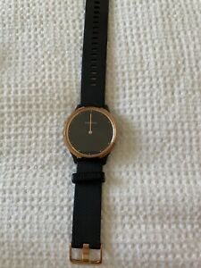 Garmin Vivomove HR Gold Stainless Steel Bezel with Black Silicone band