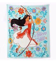 """THROW Elena of Avalor Plush Blanket Disney Soft Fleece """"A Hero to Us All"""" 50X60"""