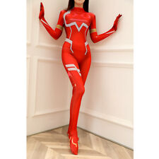 Anime DARLING in the FRANXX 02 Zero Two Cosplay Costume Sexy Bodysuit Jumpsuit