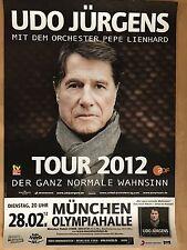 UDO JÜRGENS  28.02.2012 MÜNCHEN  - orig.Concert Poster -- Konzert Plakat  A1 NEU
