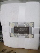 Coral Fleece Throw Blanket BELLISIMO PURE SNOW WHITE 50 X60 SUPER SOFT BRAND NEW