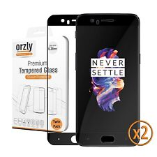 OnePlus 5 Tempered Glass Screen Protector Pro-Fit 2.5D - Black by Orzly