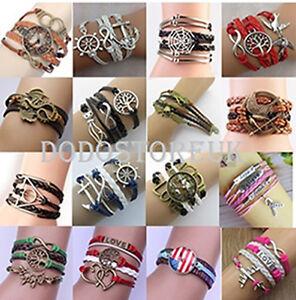 NEW Fashion Friendship Charm Leather Bracelet for Woman..
