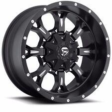 18x9 Fuel Off Road D517 Krank Black Wheels Rims Chevy Ford GMC Dodge Toyota