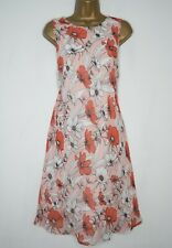 F&F PINK ORANGE WHITE FLORAL SWING DRESS SIZE 22