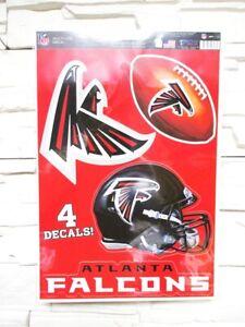 Atlanta Falcons 4 Adesivo Decalcomania Badges Set NFL Calcio Nuovo