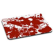 Salpicaduras de sangre patrón efecto Zombie Horror Gótico Rojo Pc Computadora Mouse Mat Pad
