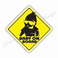 Baby on Board Full Color Adhesive Vinyl Sticker Window Car Bumper 068