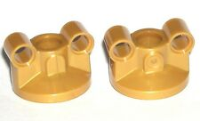 LEGO 2 Pearl Gold Technic Steering Portals 2 Pin Holes From The Tumbler 76023