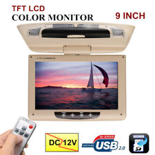 12V 9'' LCD Ecran Flip Down Voiture Auto Moniteur TFT HD Displayer Affichage