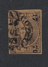 MEX 1868  6c #65 PACUCA 17-70 W/THIN ON THE MIDDLE(H3083)