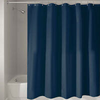 Plain Shower Curtain For Bathroom Bath With Hooks Rings 8