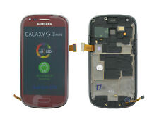 Genuine Samsung i8190 Galaxy S3 Mini Red LCD Screen & Digitizer - GH97-14204F