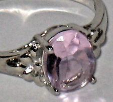 Sterling Silver Ring Lavender Stone size 8
