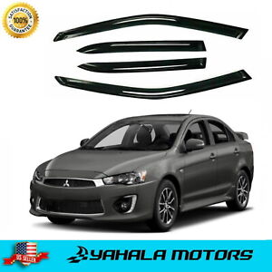 Window Visors Vent Rain Guard Wind Shields for Mitsubishi 2008-2017 Lancer