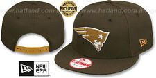 Patriots 'TEAM-BASIC SNAPBACK' Brown-Wheat Hats by New Era