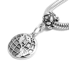 925 Sterling Silver Globe Bead Charm