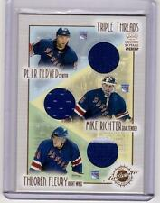 PETR NEDVED MIKE RICHTER THEOREN FLEURY 01/02 Crown Royale Jersey Triple Threads