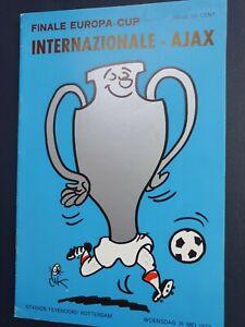 1972 EUROPEAN CUP FINAL - Inter Milan 🇮🇹 v Ajax 🇳🇱