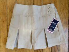 New Chaps uniform school skirt skort girls size 4 khaki tan elastic back Nwt