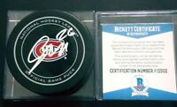 BECKETT COA F15502 JIRI SEKAC SIGNED MONTREAL CANADIENS OFFICIAL GAME PUCK NHL