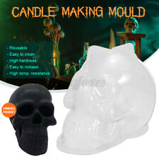 Skull Shape Acrylic Candle Mould Aroma Candle Gypsum Mold For DIY Soap