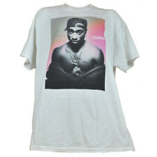 Tupac Shakur Rapper Mens Adult Tshirt White Tee Crew Neck Music Short Sleeve
