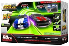 Max Traxxx Remote Control The Showdown Ford Mustang Chevy Camaro Race Track Set