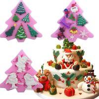 Moule à gâteau Fondant Silicone Sapin de Noël 3D DIY Dîner Cuisson Decor Moule