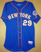 NEW YORK METS #29 IKE DAVIS AUTHENTIC BLUE BUTTON-DOWN WITH ALL STAR PATCH