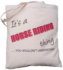 IT's A Equitazione cosa-lei non capire-Cotone Borsa A Tracolla