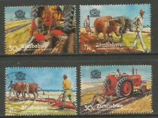 ZIMBABWE 1983 WORLD PLOWING CONTEST USED COMPLETE SET 0306