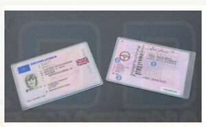 Clear Plastic Cover Sleeve Dust Protector ID Credit Card UK Driving Licence Hold