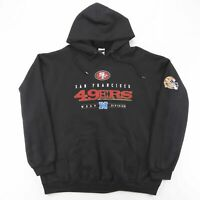 JERZEES San Francisco 49ers Black American Round Neck Hoodie Mens 2XL
