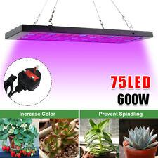 More details for 600w led grow lights kit full spectrum hydroponic plant lamp indoor veg