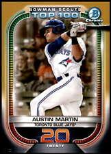 Austin Martin 2021 Bowman 5x7 Scout's Top 100 Gold #BTP-20 /10 Blue Jays