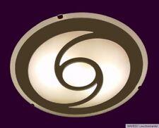 Deckenleuchte Deckenlampe Wandlampe Energiesparlampe Glas Weiß Spiegel Chrom E14