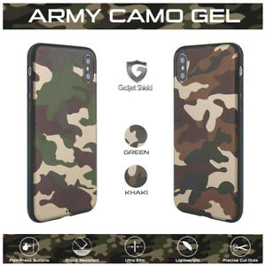 Gadget Shield Army Camouflage Soft TPU Rubber Back Case for Apple Mobile Phones