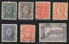 "1932 Canada SC# 195-201-King George V ""Medallion "" Issue-Lot CU294-Used"