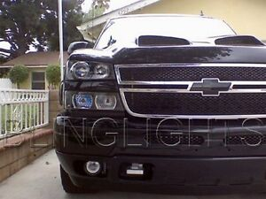 2003-2014 Chevy Chevrolet Silverado Halo Fog Lamp Angel Eye Driving Lights