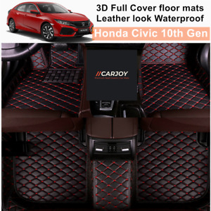 3D Moulded Fully Waterproof Car Floor Mats Cover for Honda Civic 10th Gen 2016+