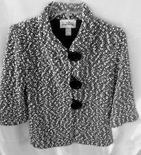 Vintage Joseph Ribkoff Retro Black and White Loopy Knit Jacket Ls or 3/4 length