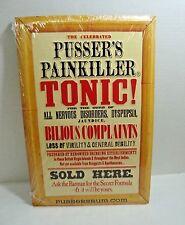 "Pusser's Tonic Painkiller Embossed Sign Bar Decor 17.5"" x 11.5"" Aluminum"