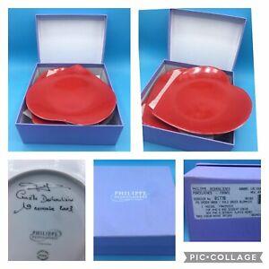 6 Philippe Deshoulieres SIGNED Porcelain de Limoges Coeurs Canape Heart Plates
